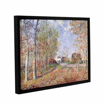 A Corner of the Woods at Sabions, 1883 Framed Painting Print on Wrapped Canvas