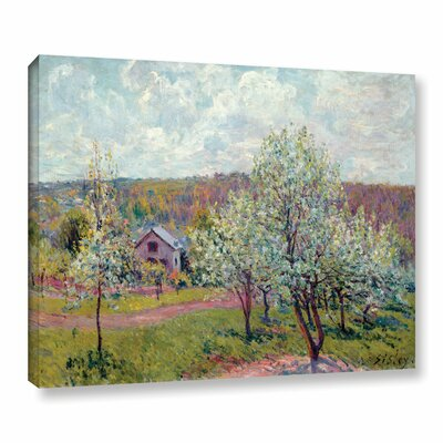 Spring in The Environs of Paris, Apple Blossom, 1879 Painting Print on Wrapped Canvas
