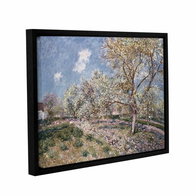 Spring at Veneux, 1880 Framed Painting Print on Wrapped Canvas Size: 14