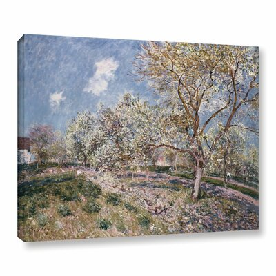 Spring at Veneux, 1880 Painting Print on Wrapped Canvas