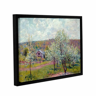 Spring in The Environs of Paris, Apple Blossom, 1879 Framed Painting Print on Wrapped Canvas