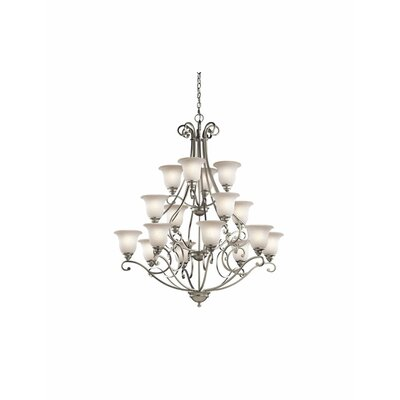Haffenreffer 16-Light Shaded Chandelier Finish: Brushed Nickel