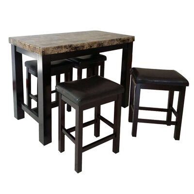 Stansell 5 Piece Pub Table Set