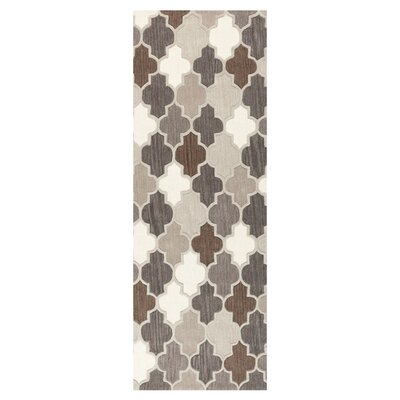 Billmont Safari Tan/Elephant Area Rug Rug Size: Runner 26 x 8