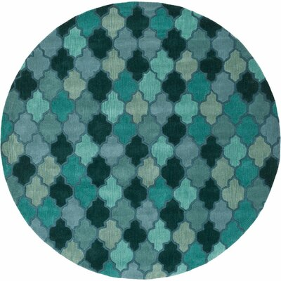 Billmont Fores Green Geometric Area Rug Rug Size: Rectangle 9 x 13