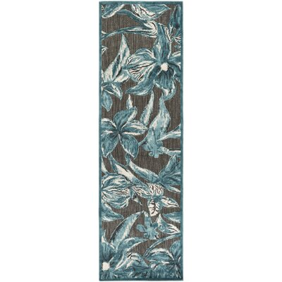 Winfrey Black Indoor/Outdoor Area Rug Rug size: Rectangle 5 x 76