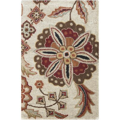 Jasmine Parchment Tufted Wool Area Rug Rug Size: Rectangle 6 x 9