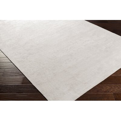 Goldston Hand-Woven Medium Gray Area Rug Rug size: 8 x 10