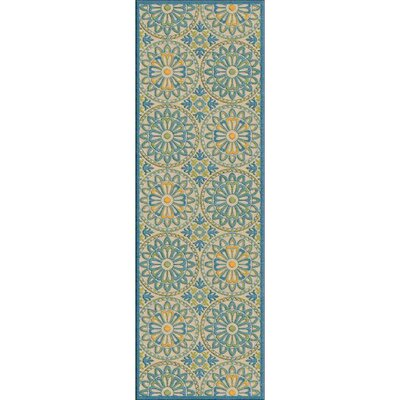 Winfrey Teal Indoor/Outdoor Area Rug Rug size: Square 76
