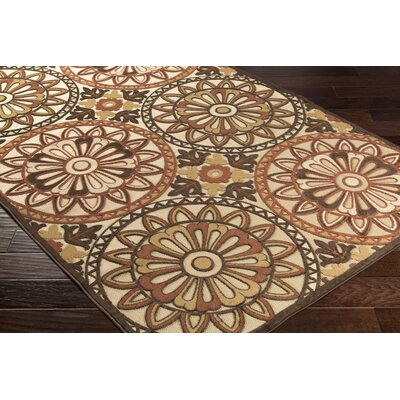 Winfrey Khaki Indoor/Outdoor Area Rug Rug size: 39 x 58