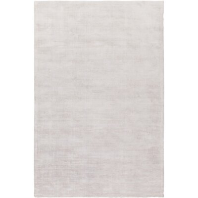 Goldston Hand-Loomed Taupe Area Rug Rug size: 4 x 6