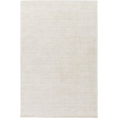 Goldston Hand-Loomed Khaki Area Rug Rug size: Rectangle 6 x 9