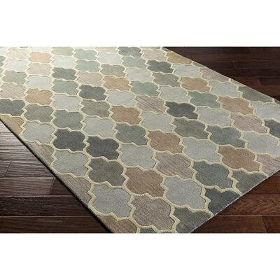 Billmont Hand-Tufted Black/Neutral Area Rug Rug Size: Rectangle 33 x 53
