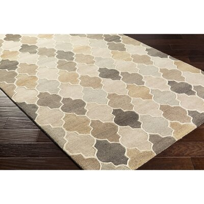 Billmont Hand-Tufted Neutral/Brown Area Rug Rug Size: 5 x 8