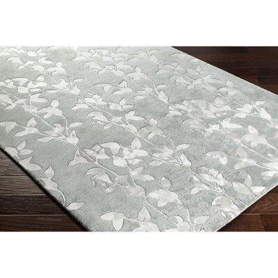 Silvera Hand-Tufted Neutral/Green Area Rug Rug Size: 2 x 3