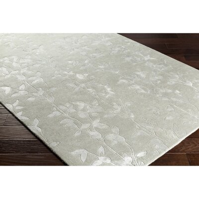 Silvera Hand-Tufted Gray Area Rug Rug Size: Rectangle 5 x 76