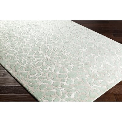 Silvera Hand-Tufted Green/Gray Area Rug Rug Size: 2 x 3