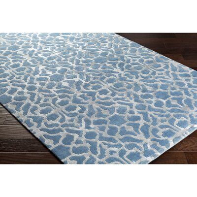 Silvera Hand-Tufted Blue/Gray Area Rug Rug Size: 5 x 76