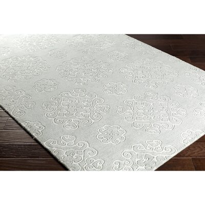 Silvera Hand-Tufted Green/Gray Area Rug Rug Size: Rectangle 2 x 3