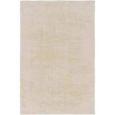 Goldston Hand-Loomed Neutral Area Rug Rug Size: Rectangle 4 x 6