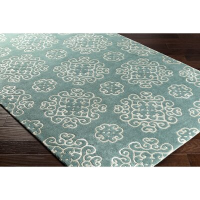 Silvera Hand-Tufted Neutral/Blue Area Rug Rug Size: Rectangle 2' x 3'