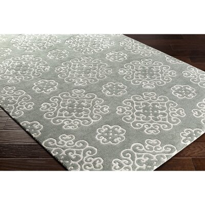 Silvera Hand-Tufted Gray/Green Area Rug Rug Size: 2 x 3
