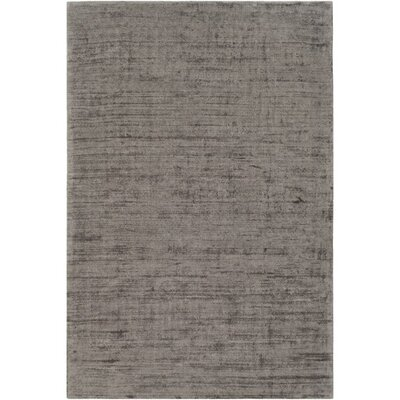 Goldston Hand-Loomed Gray Area Rug Rug Size: 9 x 13