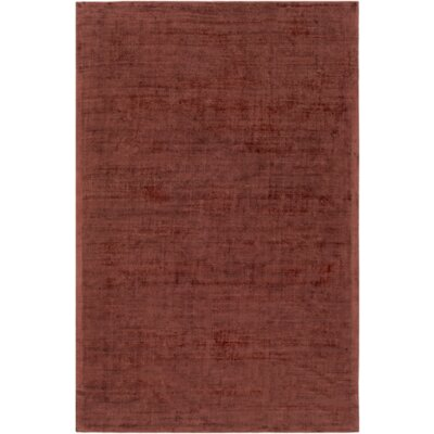 Goldston Hand-Loomed Brown Area Rug Rug Size: 4 x 6