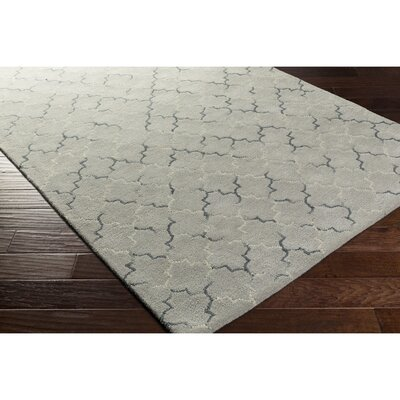 Hopkinton Hand-Tufted Gray/Neutral Area Rug Rug Size: 5 x 76