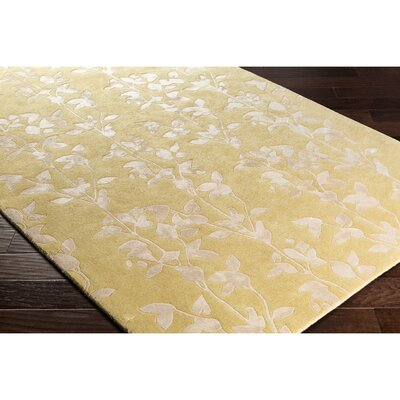 Silvera Hand-Tufted Neutral/Yellow Area Rug Rug Size: Rectangle 8 x 10