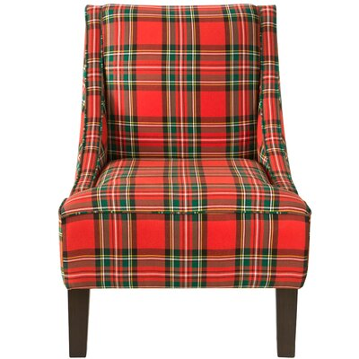 Goldhorn Armchair Upholstery: Ancient Stewart Red, Nailhead Detail: No Trim