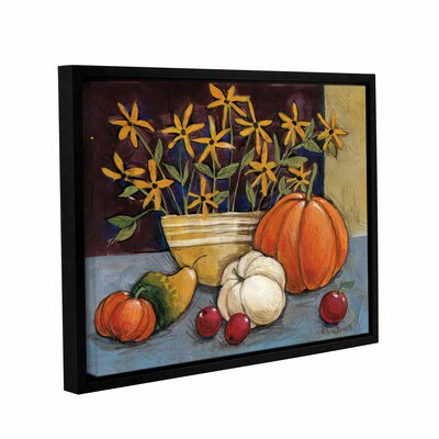 Yellow Ware Framed Painting Print on Wrapped Canvas