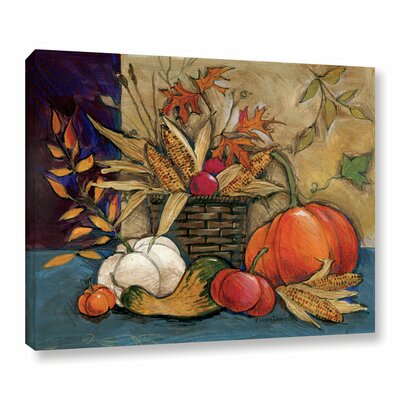Corn Basket Painting Print on Wrapped Canvas