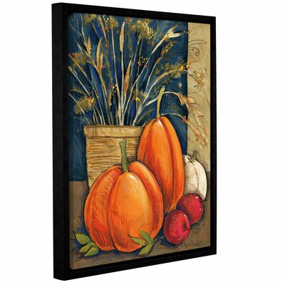 Straw Basket Framed Painting Print on Wrapped Canvas