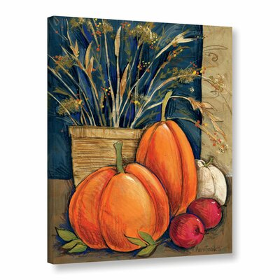 Straw Basket Painting Print on Wrapped Canvas
