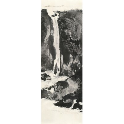 Sumi Waterfall VIew I Painting Print on Wrapped Canvas
