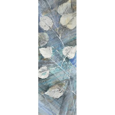 Silver Leaves I Painting Print on Wrapped Canvas Size: 36