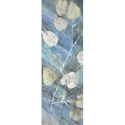 Silver Leaves II Painting Print on Wrapped Canvas Size: 36