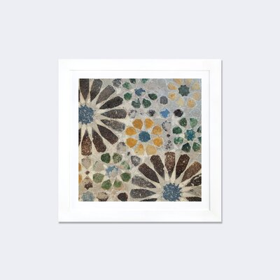 Alhambra Tile II by Sue Schlabach Framed Graphic Art