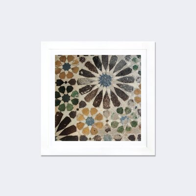 Alhambra Tile III by Sue Schlabach Framed Graphic Art