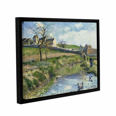 The Farm at Onsy, 1883 Framed Painting Print on Wrapped Canvas Size: 14