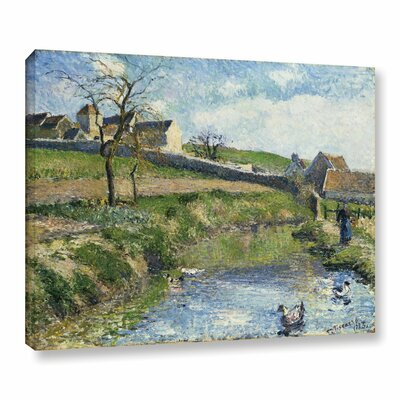 The Farm at Onsy, 1883 Painting Print on Wrapped Canvas Size: 14