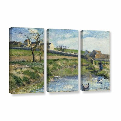 The Farm at Onsy, 1883 3 Piece Painting Print on Canvas Set Size: 24