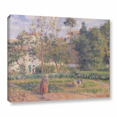Vegetable Garden at The Hermitage, Pontoise, 1879 Painting Print on Wrapped Canvas Size: 14