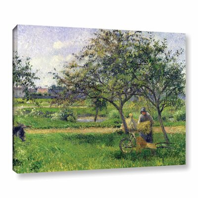 The Wheelbarrow, Orchard, 1881 Painting Print on Wrapped Canvas Size: 14