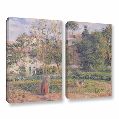 Vegetable Garden at The Hermitage, Pontoise, 1879 2 Piece Painting Print on Wrapped Canvas Set
