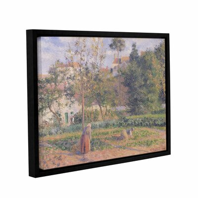 Vegetable Garden at The Hermitage, Pontoise, 1879 Framed Painting Print on Wrapped Canvas Size: 14