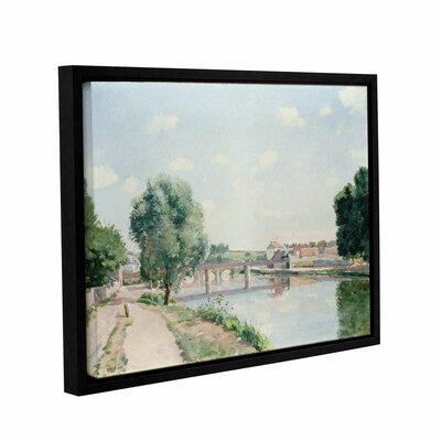 The Railway Bridge, Pontoise Framed Painting Print on Wrapped Canvas Size: 14