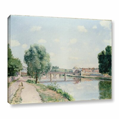 The Railway Bridge, Pontoise Painting Print on Wrapped Canvas Size: 14