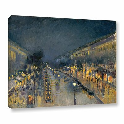 The Boulevard Montmartre at Night, 1897 Painting Print on Wrapped Canvas Size: 14